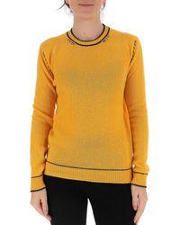 Marni Contrast-stitch Sweater - Yellow