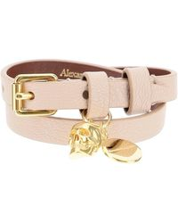 Alexander McQueen Double Wrap Skull Bracelet - Natural