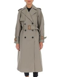 Tory Burch Classic Double Breasted Trench Coat - Gray