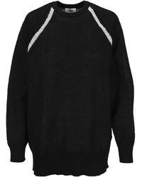 Y-3 Classic Sheer Knit Crew Jumper - Black