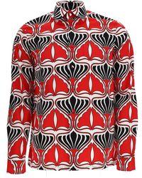 Prada Graphic Print Shirt - Red