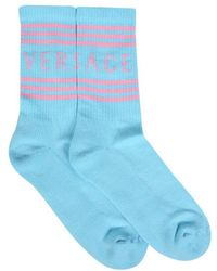 Versace Light Blue Socks