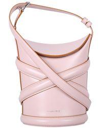 Alexander McQueen The Curve Bucket Bag - Pink