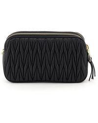 Miu Miu Matelassè Shoulder Bag - Black
