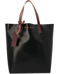 Marni North-south Bi-coloured Shopping Bag - Blue