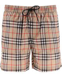 Burberry Vintage Check Drawcord Swim Shorts - Multicolor