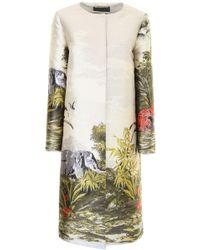 Alberta Ferretti - Exotic Jungle Printed Coat - Lyst