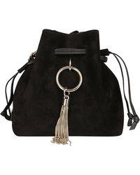 Jimmy Choo Callie Small Bucket Bag - Black