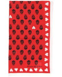 Alexander McQueen - Skull Heart Print Scarf - Lyst