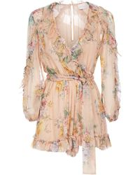 Zimmermann Floral Print Bodysuit - Pink