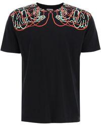 Marcelo Burlon Handsfaces Print T-shirt Xs Cotton - Black