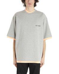 we11done Oversized Reversible T-shirt - Multicolour