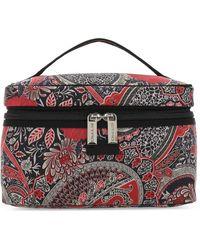 Etro Allover Floral Print Make-up Bag - Multicolour