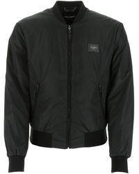 Dolce & Gabbana Zipped Bomber Jacket - Black