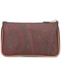 Etro Paisley Printed Zipped Shoulder Bag - Multicolour