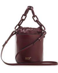 RED Valentino Redvalentino Mini Maxi Chained Bucket Bag