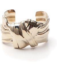 Saint Laurent Bow Cuff Bracelet - Metallic