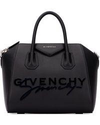 Givenchy Small Antigona Signature Logo Tote Bag - Black
