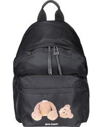 Palm Angels Classic Bear Print Backpack - Black