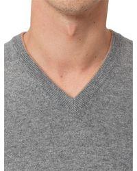 Brunello Cucinelli V-neck Knit Jumper - Grey