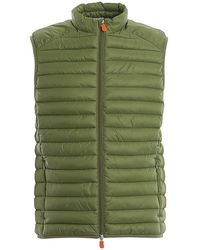 Save The Duck Gigax Quilted Waistcoat - Green