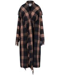 "Balenciaga ""blanket"" Coat - Brown"