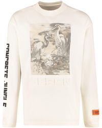 Heron Preston Birds Print Sweatshirt - White