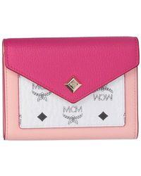 MCM Love Letter Trifold Wallet - Pink
