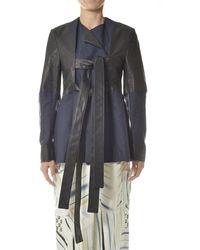 Ambush Panelled Tie-fastened Jacket - Multicolour