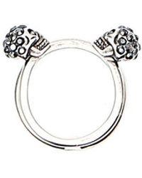 Alexander McQueen - Skull Cuff Ring - Lyst