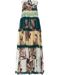 Pinko Floral Ruffle-detailed Maxi Skirt - Multicolour