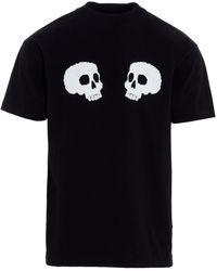 Palm Angels Black Skull Short Sleeve T-shirt
