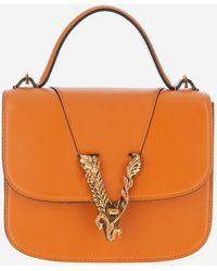 Versace Virtus Small Handbag - Orange