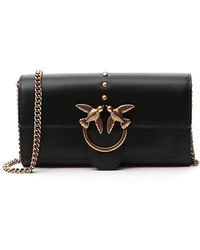 Pinko Simply 2 Love Clutch Bag - Black