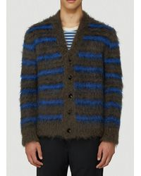 Marni Striped Cardigan - Blue