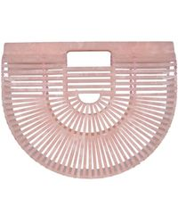 Cult Gaia Acrylic Ark Small Tote Bag - Pink