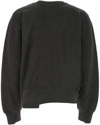 Ambush Charcoal Cotton Sweatshirt Nd Uomo - Grey