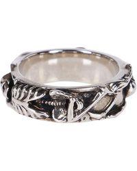 Alexander McQueen Skeleton Ring - Metallic