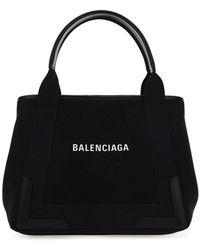 Balenciaga Navy Cabas Tote Bag - Black