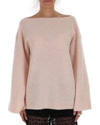 3.1 Phillip Lim Flared Sleeve Knitted Jumper - Pink