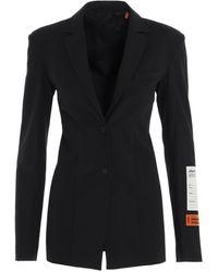 Heron Preston Tailored Fitted Blazer - Black