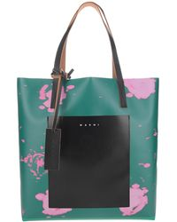Marni Abstract Printed Tote Bag - Multicolour