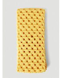 Miu Miu Crochet Knit Scarf - Yellow