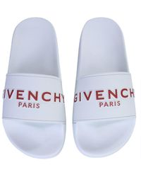Givenchy Paris Signature Slippers - White
