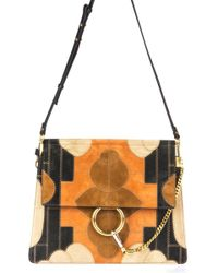 Chloé - Faye Patchwork Shoulder Bag - Lyst