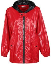 Givenchy Hooded Jacket - Red