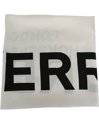Burberry Horseferry Logo Print Scarf - White