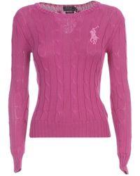 Polo Ralph Lauren Beaded Sweater - Pink
