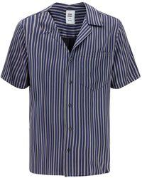 Opening Ceremony Striped Short Sleeve Shirt - Blue