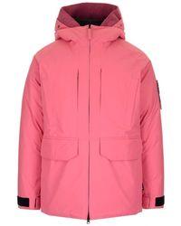 Stone Island Ripstop Gore-tex Down Coat Pink